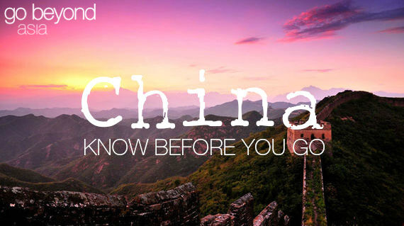 Know before you go - China