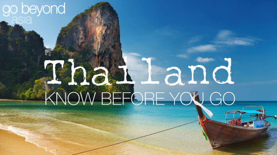 Know before you go - Thailand